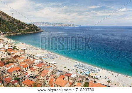 Beautiful beach in Scilla, southern Italy, Calabria region