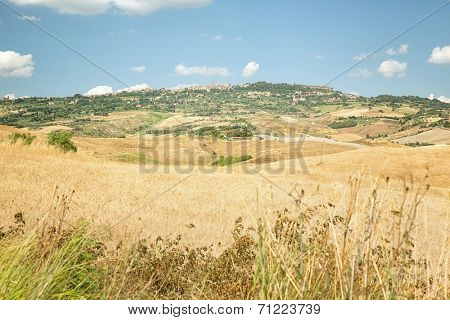 View of the town Volterra in Tuscany, Italy