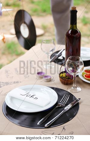 Table setting in music style