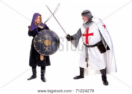 Knight Templar And Muslim