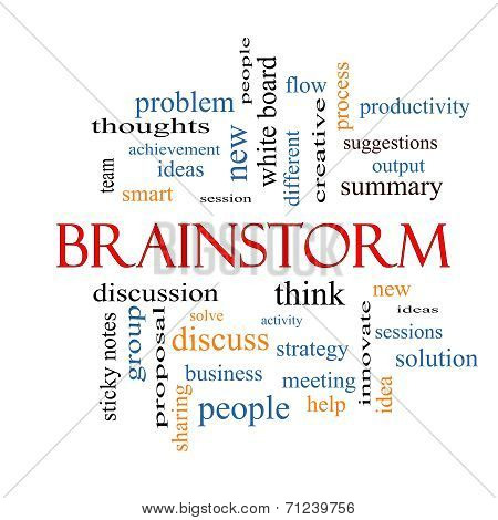 Brainstorm Word Cloud Concept