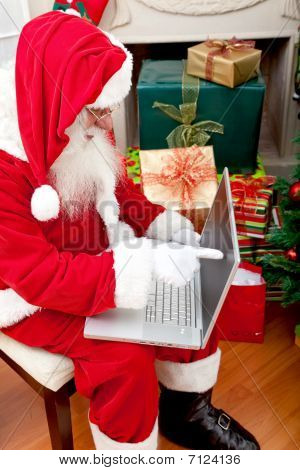 Santa With A Laptop