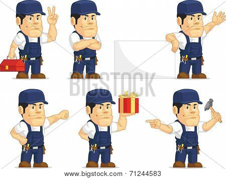 Strong Mechanic Mascot 2