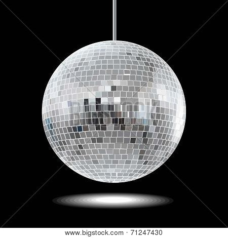 mirror disco ball vector illustration EPS10.