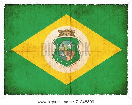Grunge Flag Of Ceara (brazil)