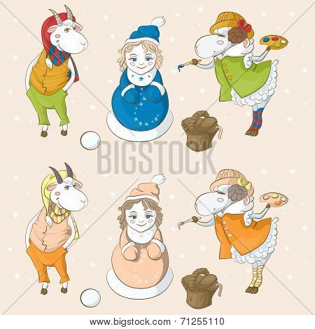 Snow-maiden Goat Sheep