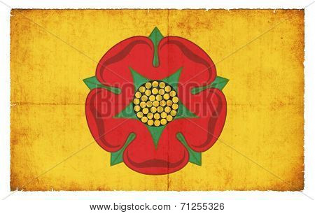 Grunge Flag Of Lancashire (great Britain)