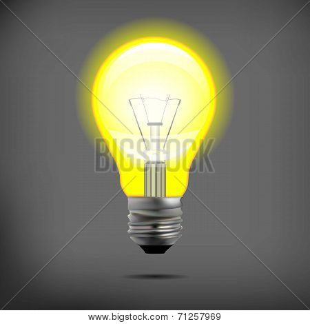 incandescent electric lamp in vector format