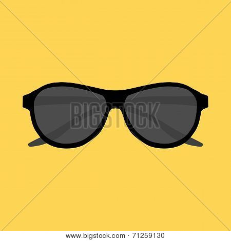 Hipster sunglasses set