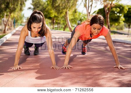 Training And Doing Pushups