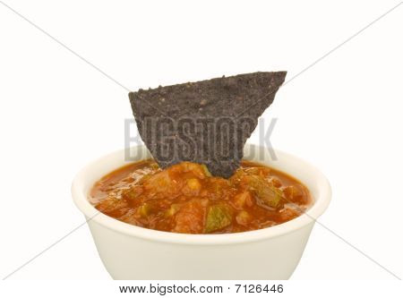 Blue Corn Tortilla Chip And Salsa