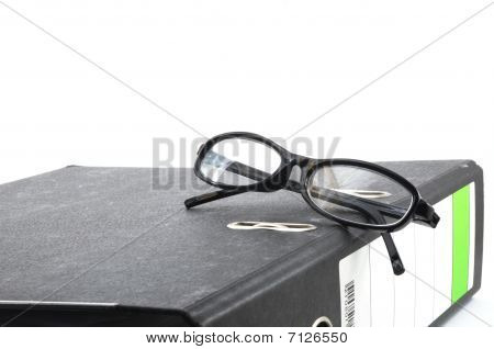 Eye Glasses And Folder