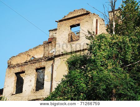 Derelict Building In Sarajevo
