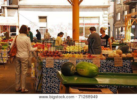 Covered Market In Sarajevo