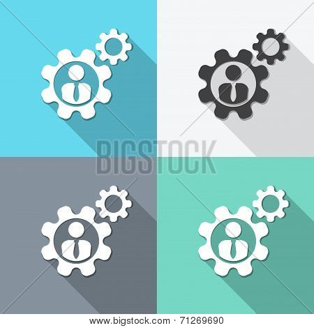 Flat Human Resources Icon Backgrounds