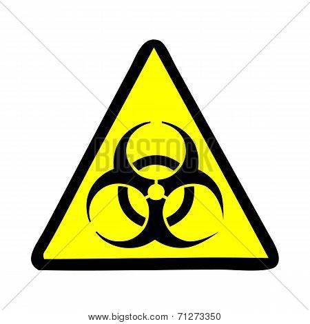 Biohazard symbol vector sign