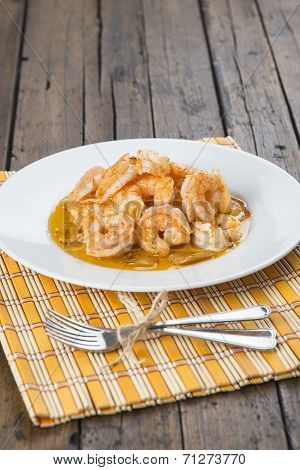 Shrimp Scampi For Appetizer