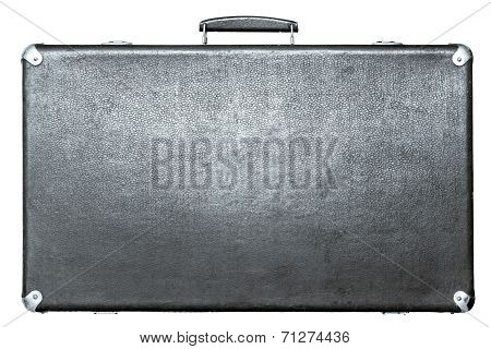 Suitcase Of Silvery Color On A White Background