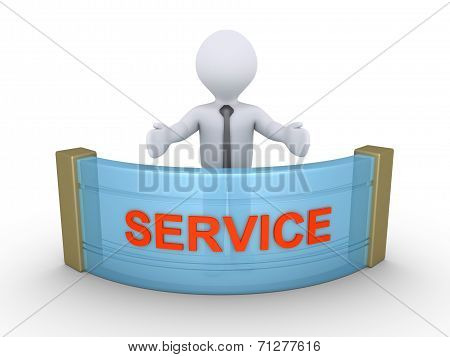 Businessman Is Providing Service