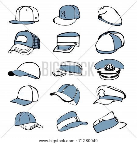 Set Of A Hat Icon Vector