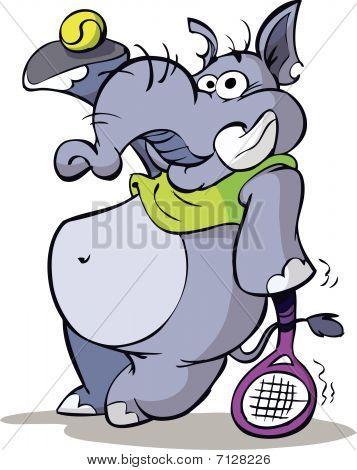 Tennis elephant