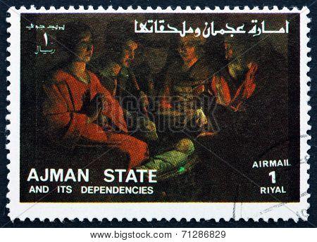 Postage Stamp Ajman 1973 Adoration Of The Kings