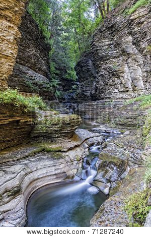 Watkins Glen Gorge In Early Morning Light