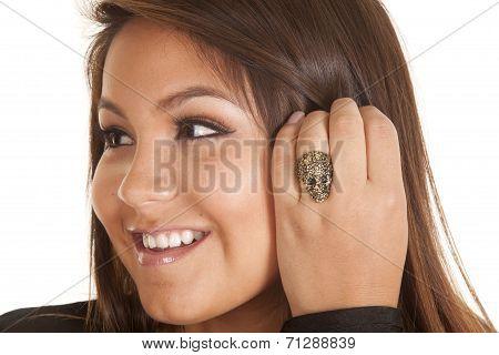Close Up Smile Ring Skull