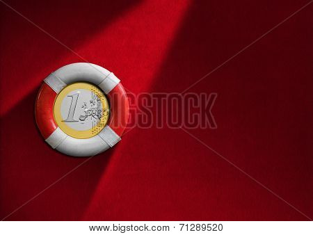 Lifebuoy With Euro Coin