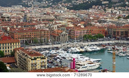 City Of Nice - View Of Port De Nice