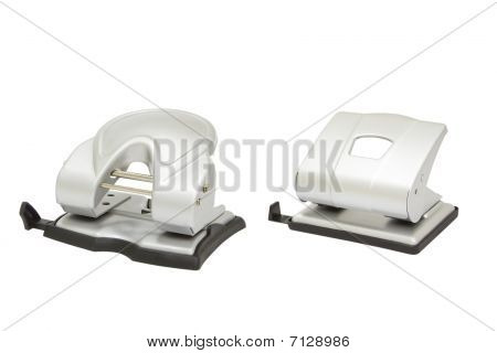 Two Hole Punchers Isolated