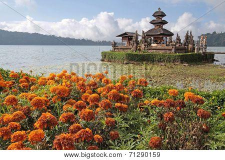 Ulun Danu  Temple And Bratan Lake In Bedugul