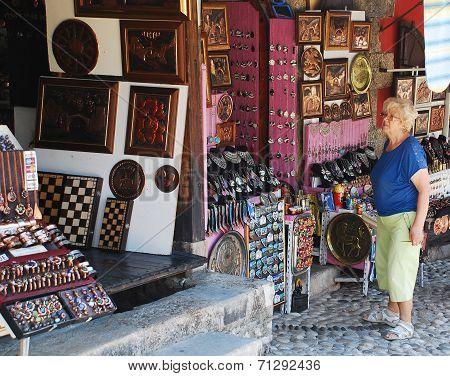 Tourist In Mostar