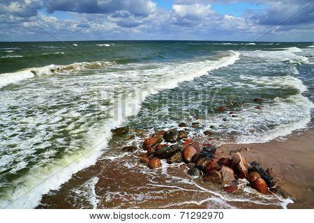 Rocks And Sea Surf