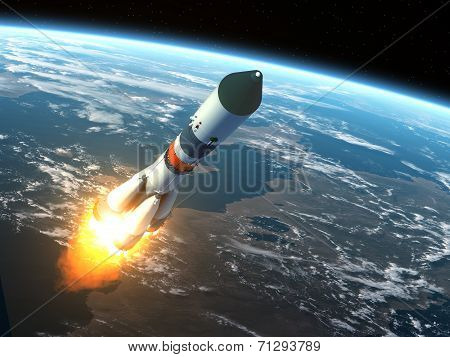 Cargo Rocket Takes Off