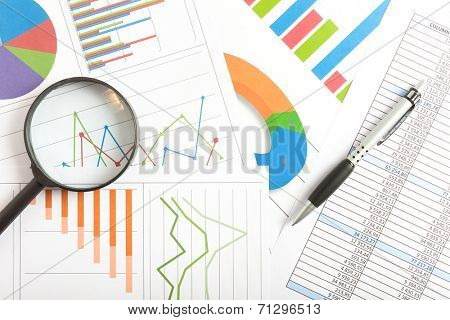 Business documents background