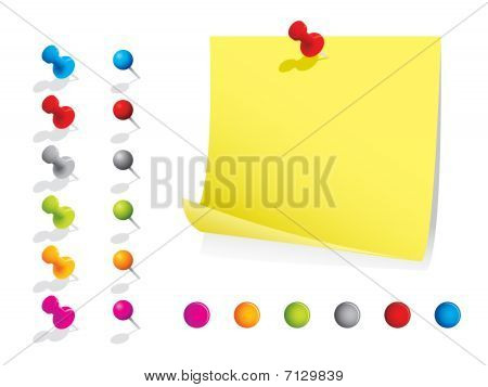 Memo notes with pins