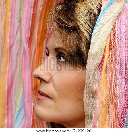 Mature Woman In Fabric