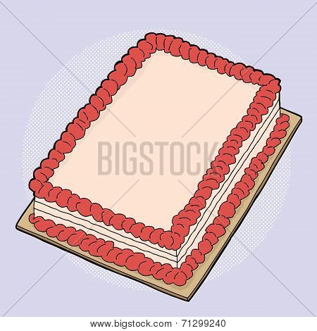 Cartoon Strawberry Cake