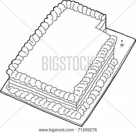 Outlined Cake With Missing Slice