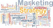 stock photo of marketing strategy  - Word cloud concept illustration of marketing strategy - JPG