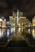foto of trident  - A night view of the Union Square in downtown San Francisco California United States - JPG