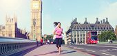image of westminster bridge  - London lifestyle woman running near Big Ben - JPG