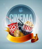 stock photo of strip  - Popcorn box - JPG