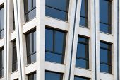 pic of fragmentation  - Modern architecture abstract fragment with white walls and windows - JPG