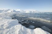stock photo of arctic landscape  - Glacial Landscape - JPG
