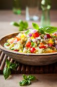 image of quinoa  - Quinoa salad with cucumber - JPG