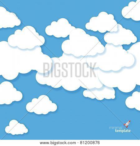 Cloudscape minimalist vector template