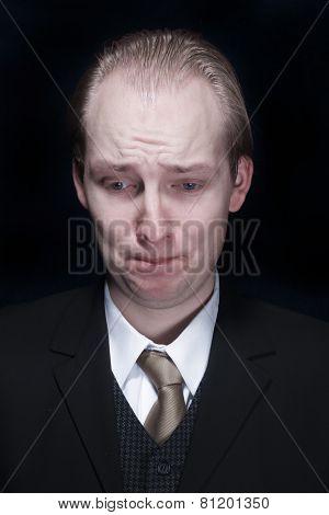 Portrait Of A Sad Business Man