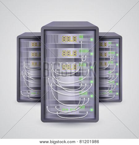 Servers icon. Vector